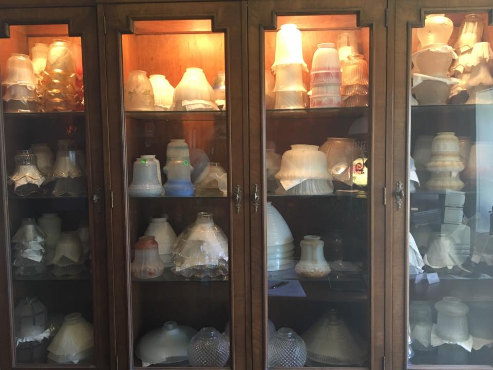 Glass shades and globes at Twilight Fixtures and Lamp Repair